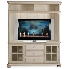 "Placid Cove 69"" TV Console and Hutch by Riverside - Home Gallery Stores"