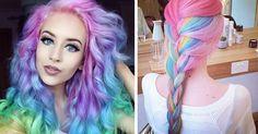 Szivárvány pasztell színű haj az új divat a bevállalós nők körében