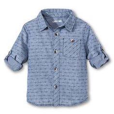 98c94f8d6a81 Toddler Boys  Button Down Shirt - Metallic Blue Metallic Blue