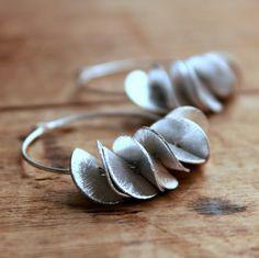 Silver Hoop Earrings by monica