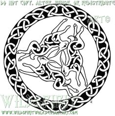 Triple Hare Celtic Tattoo by WildSpiritWolf