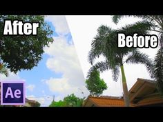 After Effects TUTORIALS - Advance Sky Replacement - YouTube