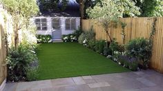 Modern Low Maintenance London Garden Design   Contact anewgarden for more information