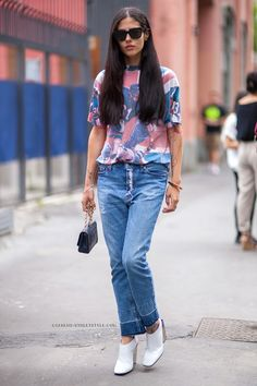 Stilikone Gilda Ambrosio; Bild: Athens Street Style | Journelles