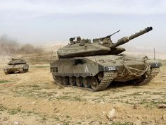 Two Israeli Merkava Mk 4 tanks