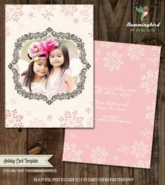 Create Your Own Christmas Photo Card With These Free Templates: Free Christmas Card Template from Hummingbird Press
