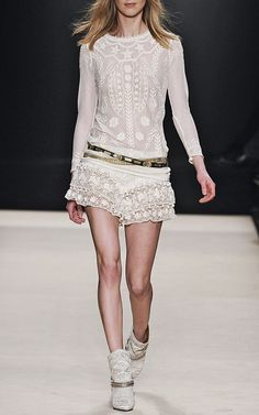 i <3 lacy stuff.. maybe it's my mother's influence - always dressing me up as doily growing up. lol  [Isabel Marant]