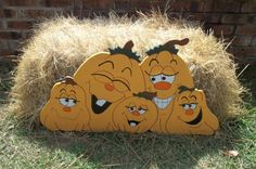 Pumpkin Patch Yard Art by CollyCreekCraftz on Etsy