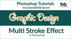 Photoshop Tutorials - How to give Multi Stroke text effect in Photoshop