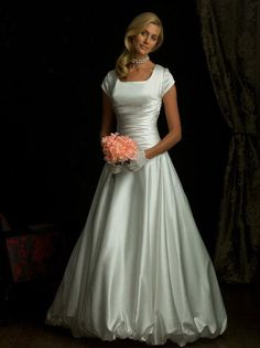 Strapless Simple Modest Ball Gown Wedding Dress With Sleeves Price, Girls Plus Size Graduation Dresses Feature