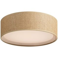 "Maxim Prime 16"" Wide Grass Cloth Drum LED Ceiling Light - #73W39 