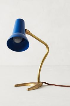 love the blue + brass!