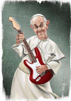 Pope Francesco rocks!