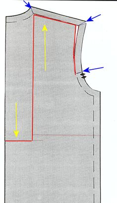 sway back alteration - my go-to alteration for shirt, tee or jersey dress. no waist- or back-seam required! Only alteration: I end my cutting at the outer shoulder/armhole corner because of my narrow shoulders