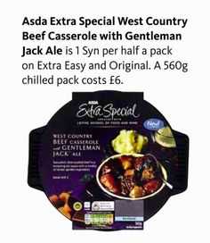 2 SYNS per pack Asda Slimming World, Juice Plus, Beef Casserole, Diet Recipes, Diet Meals, Slimming World Recipes, Ale, Health Fitness, Syn Free