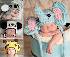 Crochet Animal Hats