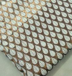 Gold Copper and White Reversible Pure Silk
