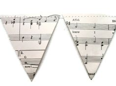 WHOLESALE Paper Banner Vintage Sheet Music by MontclairMade, $35.00