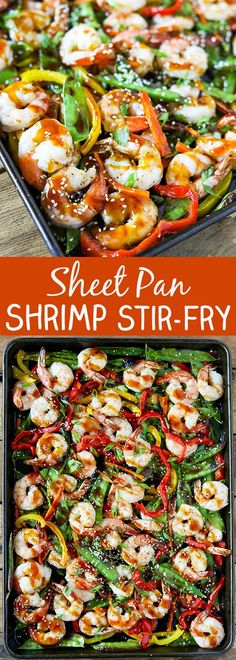 This Sheet Pan Shrimp Stir-Fry is easy to make and so delicious! Tender shrimp with colorful thinly sliced veggies all cooked on just one sheet pan in less than ten minutes. Pair it with the easy homemade stir-fry sauce and freshly steamed rice for a simple and tasty dinner idea. This is perfect for a …