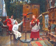 Unknow title. Paul-Charles Chocarne-Moreau (French, 1855-1931)