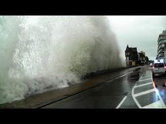 ▶ Saint-Malo Grande Marée 2014 Bretagne Sturmflut Storm Tide - YouTube