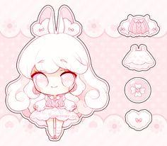 How to draw Manga and Anime Cute Anime Chibi, Kawaii Chibi, Kawaii Anime Girl, Kawaii Art, Kawaii Drawings, Cute Drawings, Manga, Cute Kawaii Animals, Chibi Girl