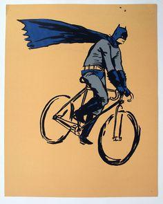 Batman! screen print by Alex Lukas