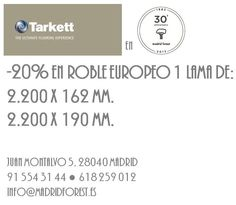 -20% en #Tarkett #roble europeo 1 lama en #MadridForest