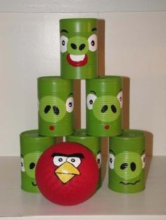 DIY Christmas Gifts for Kids - Homemade Christmas Presents for Children and Christmas Crafts for Kids | Toys, Dress Up Clothes, Dolls and Fun Games | Step by Step tutorials and instructions for cool gifts to make for boys and girls | Angry Birds Bowling Game | http://diyjoy.com/diy-christmas-gifts-for-kids