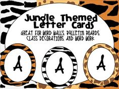 This freebie is a letter set that uses 3 different animal backgrounds. It can be used by itself or in conjunction with