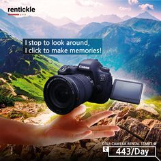 Capture stunning images with cutting-edge speed, quality, and high performance. Bring your creativity to life with a DSLR camera that captures it all! Book Now Thinking of Renting? Think of Rentickle! Dslr Photography, Delhi Ncr, Renting, Hyderabad, Eos, Creativity, Life, Image