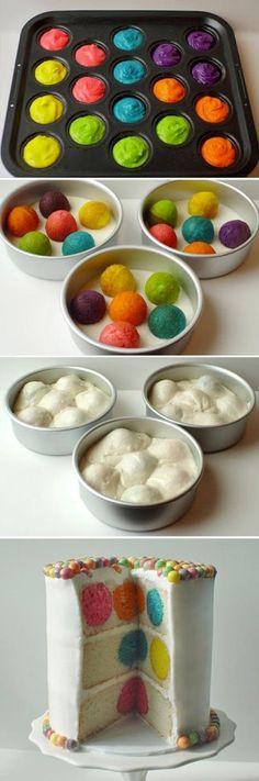 Torta colorida