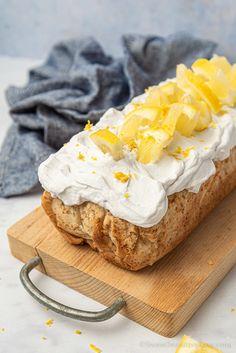 Lemon Loaf Cake with Coconut Frosting | Gluten free * Vegan