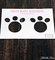 How to Make Magical Easter Bunny Footprints!