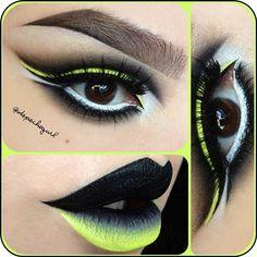 Lime and black make up look @ depechegurl