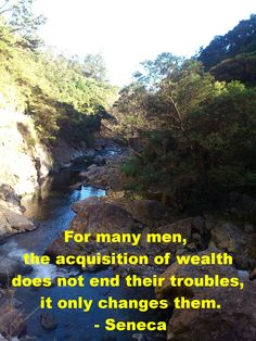 Acquiring wealth doesn't end your troubles, it only changes them http://www.moneymentalist.com/