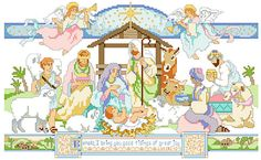 cross-stitch-pdf-pattern-nativity-nativity-with-angels-from-kooler-design-studio-3.jpg (776×477)