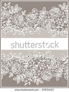 Find Lace Ribbon Vertical Seamless Pattern stock images in HD and millions of other royalty-free stock photos, illustrations and vectors in the Shutterstock collection. Lace Embroidery, Hand Embroidery Designs, Embroidery Patterns, Crochet Motif, Irish Crochet, Lace Drawing, Stencil Decor, Lace Painting, Paper Lace