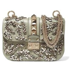 Valentino Lock embellished leather shoulder bag ❤ liked on Polyvore featuring bags, handbags, shoulder bags, real leather purses, real leather shoulder bags, leather shoulder bag, genuine leather shoulder bag and shoulder bag purse
