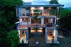Absolutely Gorgeous Eco Friendly Container Home - Costa Rica - Living in a Container Shipping Container Home Designs, Cargo Container Homes, Building A Container Home, Container Buildings, Storage Container Homes, Container Architecture, Container House Design, Sustainable Architecture, Container Cabin