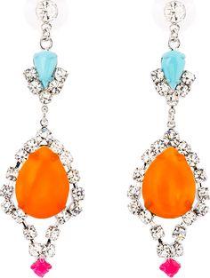 Shop now: Tom Binns Orange Now Drop Earrings Pearl Jewelry, Jewelery, Lotus Jewelry, Tom Binns, Jewelry Accessories, Jewelry Design, Jewel Box, Diamond Are A Girls Best Friend, Women's Earrings