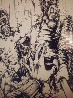 inking nu dark concept #merch #art #inking #deathmetal