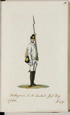 Austria; Nr.49 German Infantry Regiment Pellegrini, 1793 from Schema aller Uniform der Kaiser. König