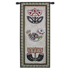 Fine Art Tapestries Folk Song Wall Tapestry - 6469-WH