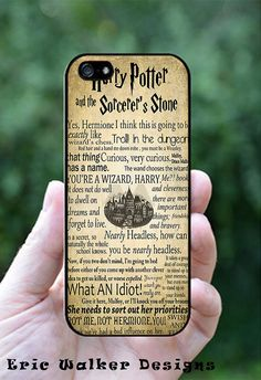 Harry Potter Quote Deisgn on iPhone 4/4S, iPhone 5, Galaxy S4 or Galaxy S3 Case