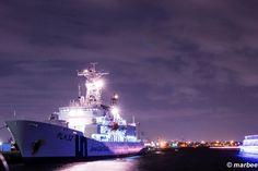 横浜の夜景 海上保安庁 巡視船