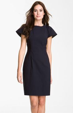 Flare Sleeve Woven Sheath Dress