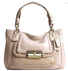 Coach Kristin Spectator Leather East West Zip Tote Bag Ivory Multi 16810 $328.99
