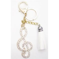 1 Pc Handmade Gold Music Note Bling Rhinestone Keychain and Purse Hanger  This is a Handmade Beautiful Large Grade A Rhinestone Key chain and Purse Hanger.