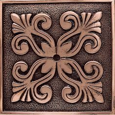 Daltile Copper Massalia - x Decorative Accent Wall Tile - Textured Metal Visual - Sold by Piece Aluminum Foil Art, Aluminum Can Crafts, Aluminum Cans, Metal Crafts, Pewter Art, Pewter Metal, Stencils, Stencil Art, Steinmetz